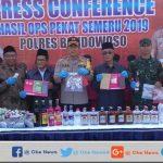 Polres Bondowoso Amankan Ratusan Botol Miras